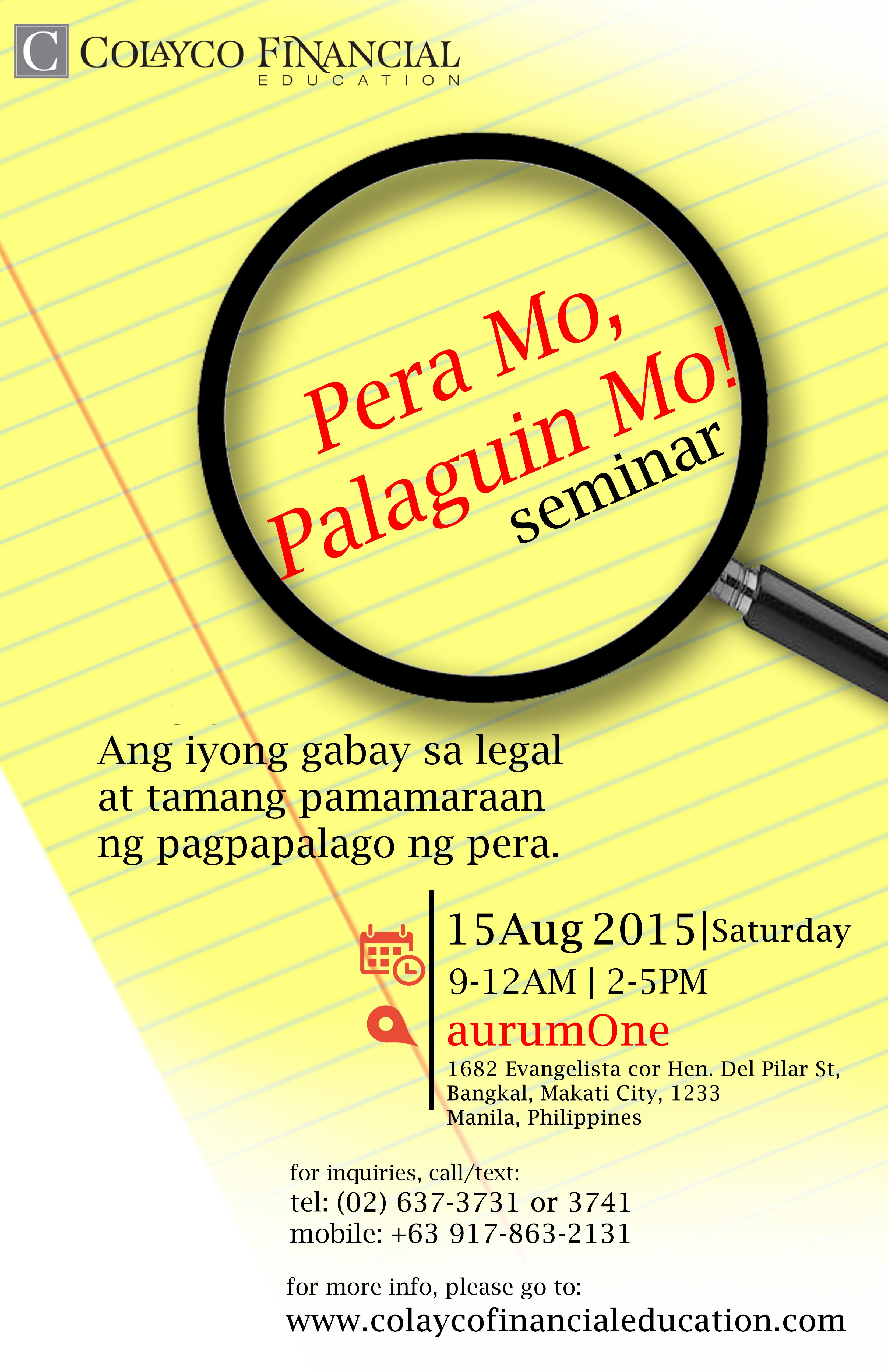 PeraMoPalaguinMo_Poster
